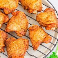 Best Ever Oven Fried Chicken Thighs | Super Crispy 5-Ingredients Chicken Thighs Recipe