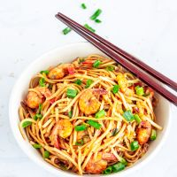 Garlic Shrimp Udon Noodles Stir Fry | Japanese Udon Noodles Recipe