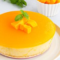 No Bake Mango Cheesecake | No Bake Cheesecake Recipe