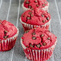 Red Velvet Muffins with Kiss of Choco Chips | Holiday Dessert Recipe