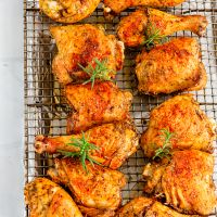 Crispy Baked Chicken with Herbs | Herb Baked Chicken Recipe