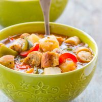 Chicken Sausage Stew with Veggies