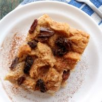 Bread Pudding with Kiss of Raisins