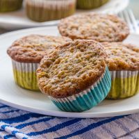 Low Fat Banana & Zucchini Muffins