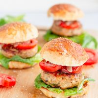 Grilled Chicken Burger with Homemade Hamburger Buns