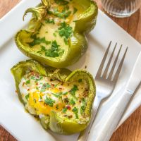 Baked Eggs in Peppers *Video Recipe*