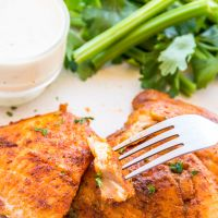 Spicy Pan Seared Tilapia *Video Recipe*