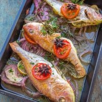Baked Fish & Vegetables *Video Recipe*