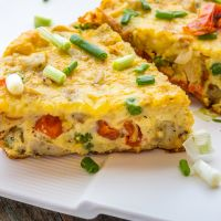 Sausage & Tomato Frittata *Video Recipe*
