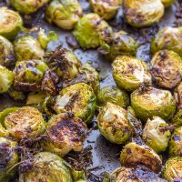 Balsamic Glazed Roasted Brussels Sprouts *Video Recipe*