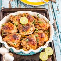 Garlic Butter Baked Chicken Thighs | Baked Chicken Recipe