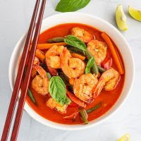 Thai Prawn Red Curry | Thai Red Curry with Shrimp