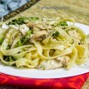 Chicken and Broccoli Tagliatelle with White Sauce