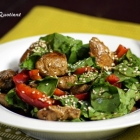 Spinach and Chicken Salad with Sesame Seeds