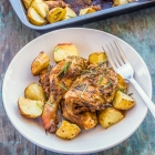 One Pot Roasted Chicken and Potatoes | One Pot Rosemary Chicken Recipe
