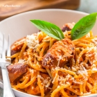 Chicken Spaghetti with Classic Homemade Red Sauce