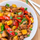 Stir Fried Chicken with Pineapple & Pepper | Easy Chicken Stir Fry Recipe