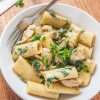 Chicken Spinach Pasta in White Sauce *Video Recipe*
