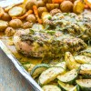 One Pan Pesto Chicken & Veggies *Video Recipe*