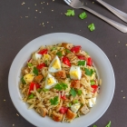 Orzo Pasta Salad with Eggs & Sausage | Easy Pasta Salad Recipe