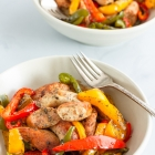 Baked Sausage and Peppers | Oven Baked Sausage & Peppers Recipe