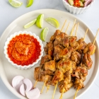 Thai Chicken Satay with Peanut Sauce & Cucumber Relish