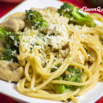 Chicken Spaghetti with White Sauce