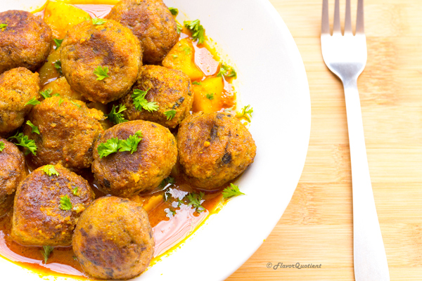 Bengali Kacha Kolar Kofta | Flavor Quotient | Today recipe of Kacha Kolar Kofta is an awesome traditional Bengali dish! These vegetarian meatballs are made with raw banana and flavored with aromatic Indian spices and are perfect for weekend indulgence!