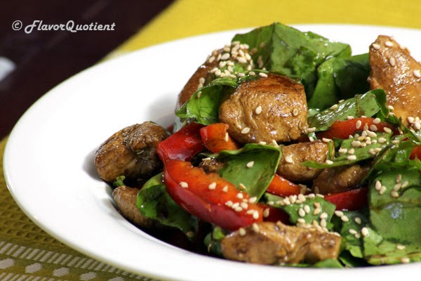 Spinach and Chicken Salad with Sesame Seed