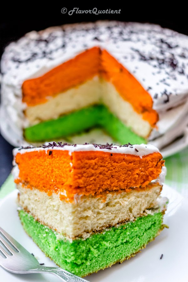 Tri Color Cake Indian Independence Day Special Flavor