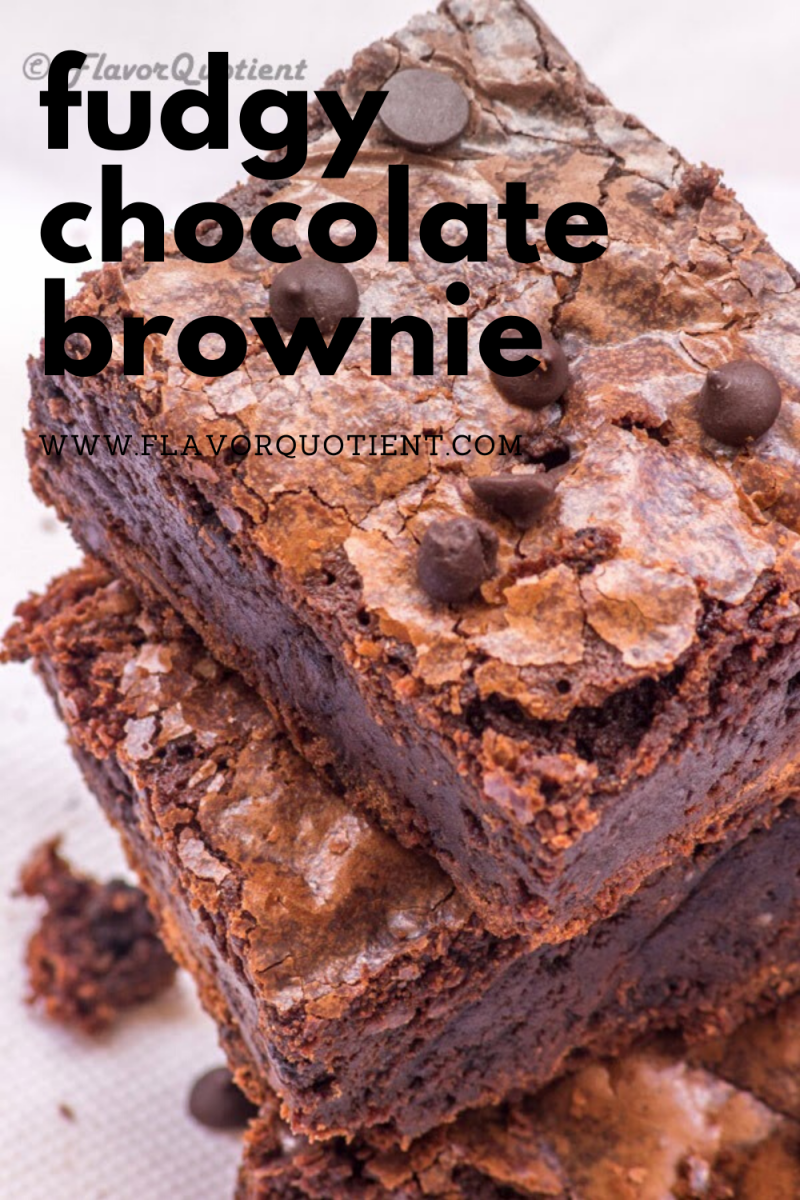 This fudgy chocolate brownie has all the power to lift up your mood and make you feel good about everything around the world! This fudgy chocolate brownie is very dense with a deep chocolate flavor and a crumbly texture at the top. You won't be able to resist the super-chocolaty sensation of this particular fudgy chocolate brownie! | chocolate brownie recipe | chocolate brownie cake | chocolate brownie easy | dark chocolate brownie | double chocolate brownie