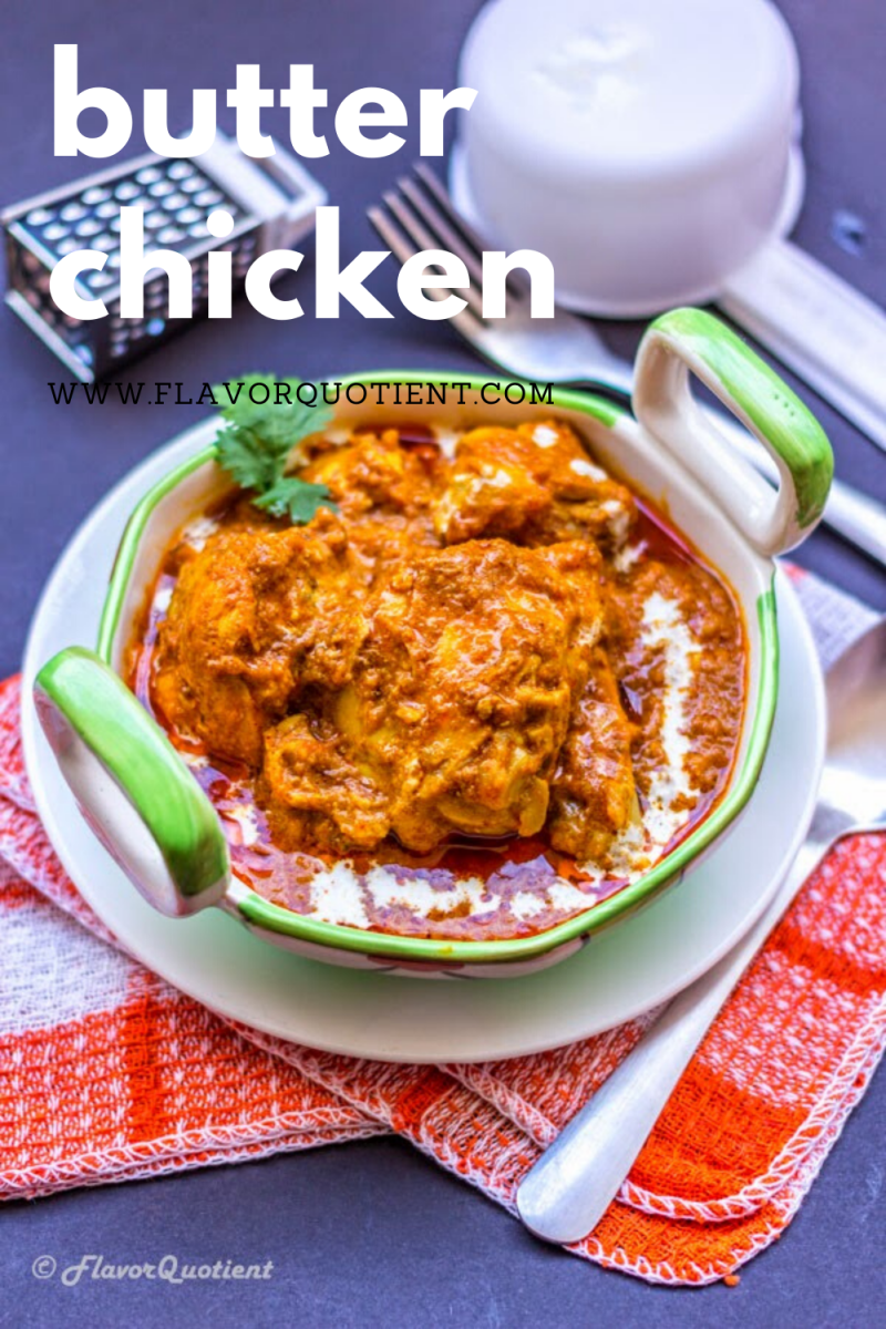 The smooth and buttery butter chicken, a.k.a murgh makhni, is an ultimate pleasure to all our senses, not only the taste buds! Butter chicken is the most loved dish from Indian cuisine and it deserves all the love & attention it gets! The butter chicken gravy is one of its kind which you can hardly get your minds off from! | indian butter chicken recipe | indian butter chicken crockpot | indian butter chicken instant pot | indian butter chicken slow cooker | butter chicken authentic recipe
