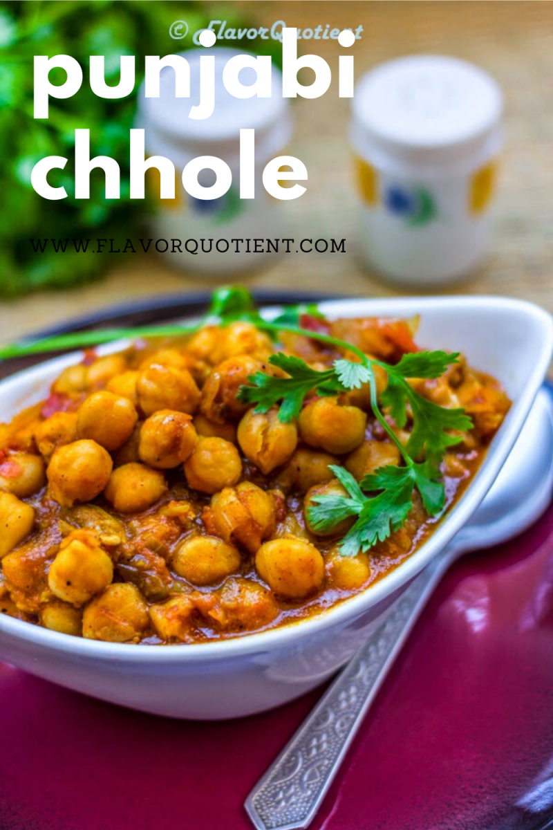 Chhole masala is the curry of chickpeas cooked in Indian spices. It is immensely flavorful and is a favorite side dish for children and adults alike across all cultures in India! The taste of chickpeas is perfectly enriched by all the aromatic spices and make for perfect companion with puri, the fluffy Indian flatbread! | Chhole masala recipe | punjabi Chhole masala | How to make Chhole masala | Homemade Chhole masala
