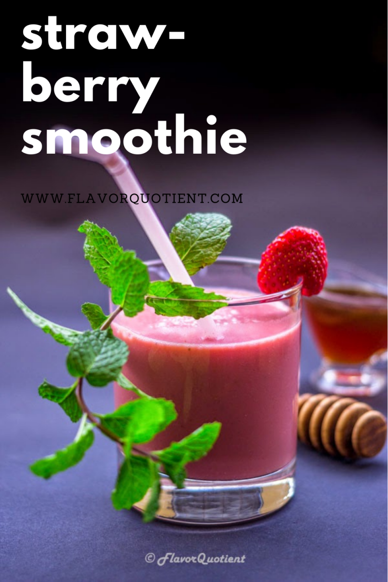 Smoothies are kids' delight; but trust me you don't have to be a kid to enjoy this creamy and delicious and oh-so-good strawberry smoothie! Give your breakfast a healthy kick with this creamy & delightful strawberry smoothie! | strawberry smoothie recipe | healthy strawberry smoothie | banana strawberry smoothie | strawberry smoothie simple recipe | mango strawberry smoothie | easy strawberry smoothie | strawberry smoothie recipe with yogurt