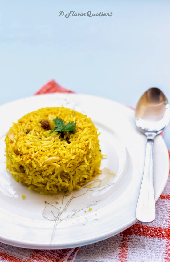 Classic Indian Sweet Rice Pilaf | Flavor Quotient | The nutty and sweet rice pilaf turned out to be the most loved dish during the last Diwali. This delicious sweet rice pilaf is best accompanied with a spicy Indian curry!