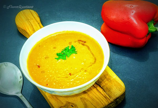 roasted red bell pepper soup