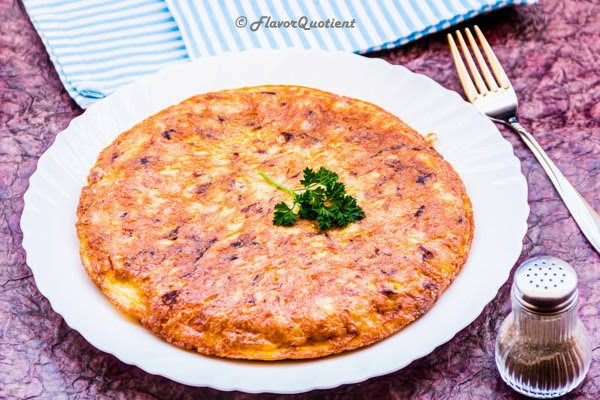 Spanish Omelette | Classic Tortilla Espanola | Flavor Quotient | Spanish omelette, also known as Tortilla Española is the classic Spanish favorite for breakfast or brunch!