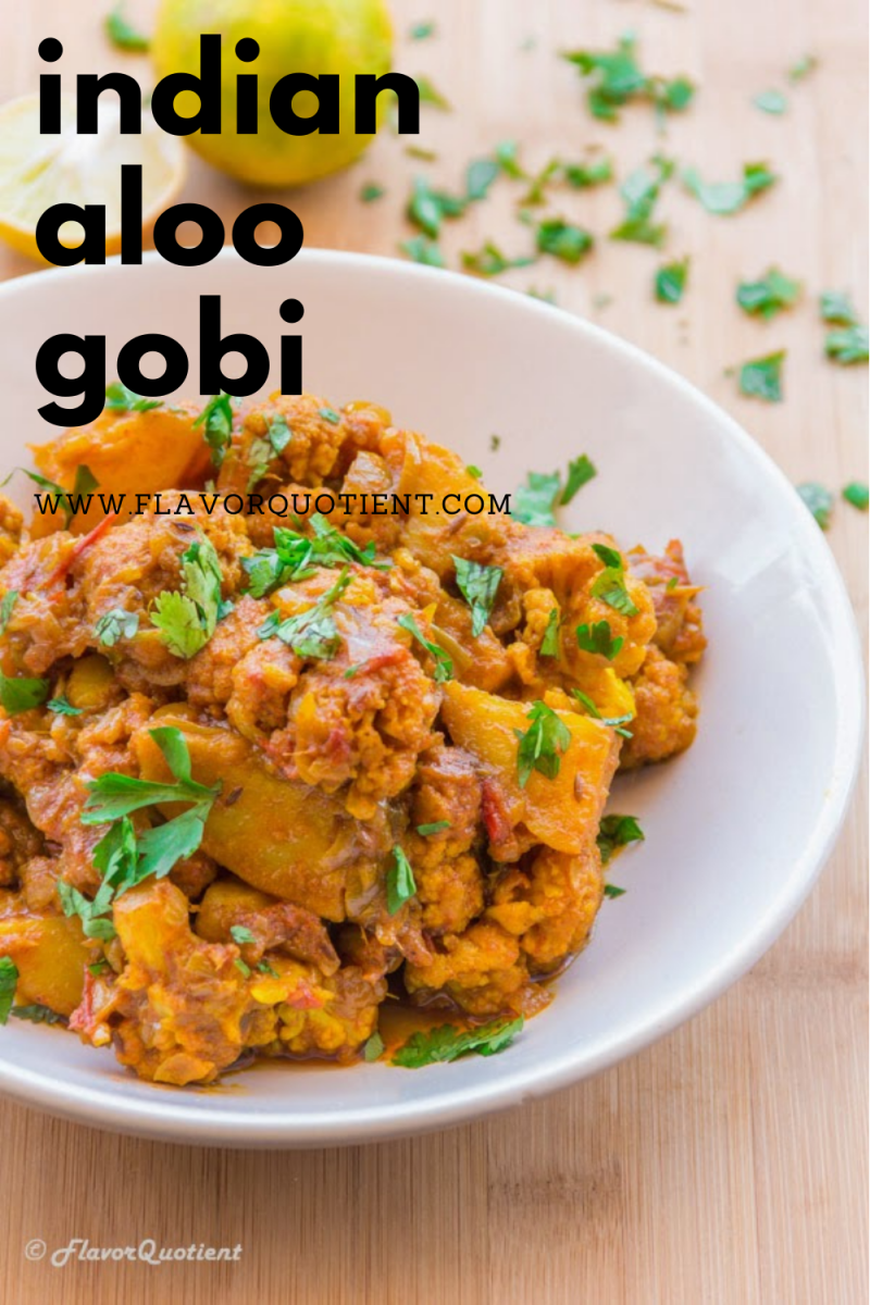 The quintessential vegetarian curry called aloo gobi is a humble yet popular Indian curry with all amazing flavors of Indian cuisine! Make authentic aloo gobi using this easy aloo gobi recipe at home and enjoy the aromas of Indian food right in your kitchen! This is a must-try Indian cauliflower recipe and guess what - you can make aloo gobi in instant pot too! | authentic aloo gobi recipe | aloo gobi recipe punjabi | aloo gobi recipe vegan | aloo gobi recipe dhaba style