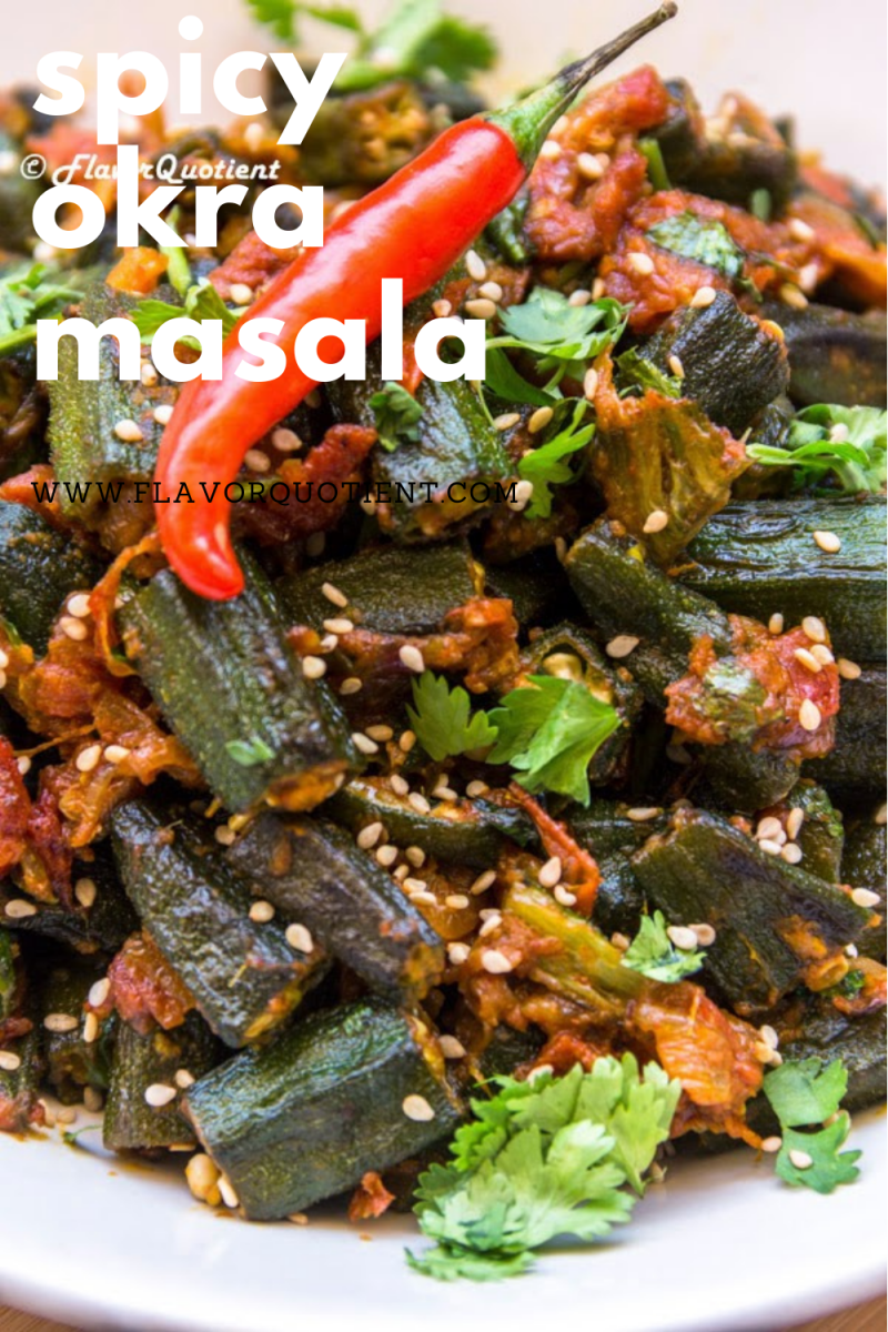 The spicy bhindi masala is all you need to satiate your craving for this humble veggie! Learn how to make the Indian style bhindi masala from this easy recipe. The authentic Indian bhindi masala is spicy but can be customized to your liking. | bhindi masala recipe | bhindi masala recipe Indian style | Punjabi bhindi masala | how to make bhindi masala | easy bhindi masala recipe | bhindi masala dry