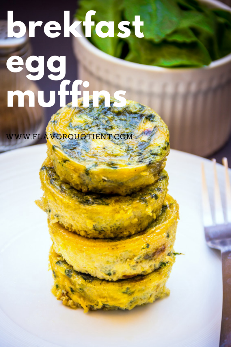 Quick and easy breakfast egg muffins are the best and tastiest option for breakfast on-the-go! Here you have the best & easy breakfast egg muffin cups recipe which is not only healthy but also tasty for everyone! These mini egg muffins are loaded with spinach; you can add cut up sausages as well and make it more protein-packed! | egg muffins keto | egg muffins low carb | egg muffins healthy | egg muffins breakfast easy