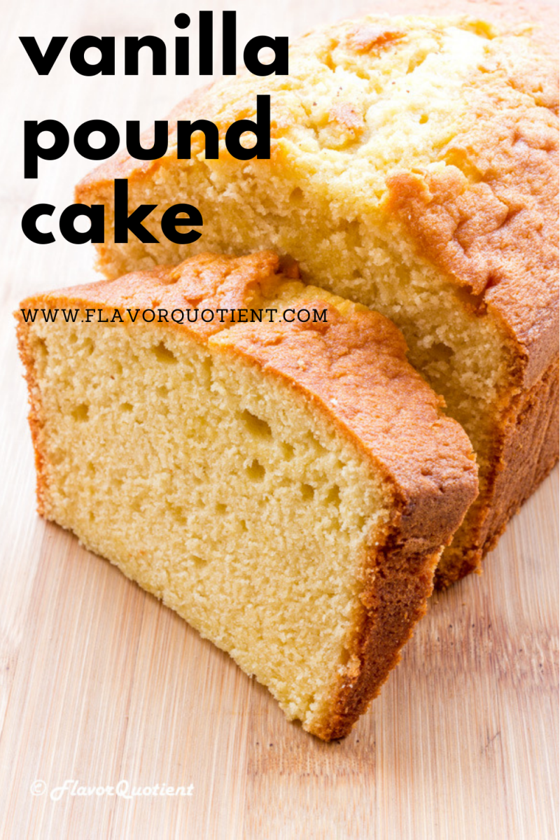 The super-buttery and moist vanilla pound cake is undisputedly the best pound cake your will ever make! With this fail-proof pound cake recipe, I guarantee that you will churn out beautifully golden brown and moist vanilla pound cake every time! | vanilla pound cake recipe | vanilla pound cake easy recipe | lemon vanilla pound cake | vanilla pound cake loaf pan | vanilla pound cake bundt pan