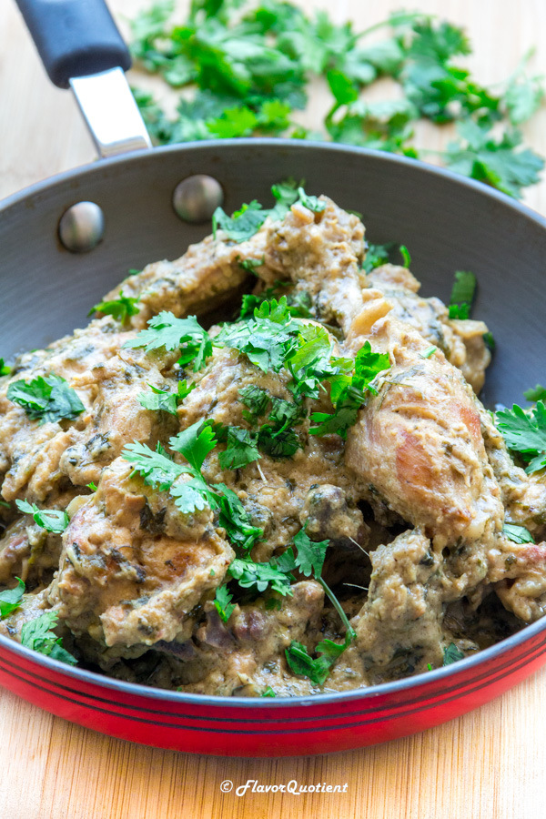 Restaurant Style Dahi Chicken Curry – Flavor Quotient:The smooth and rich dahi chicken curry is a sensation to your taste buds. The succulent chicken pieces will melt in your mouth and the creamy sauce will keep lingering in it for long!