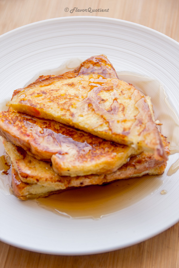 Sweet French Toast   Flavor Quotient   Sweet French toast is a delightful option for breakfast when you are looking for something wholesome but a no-fuss recipe!