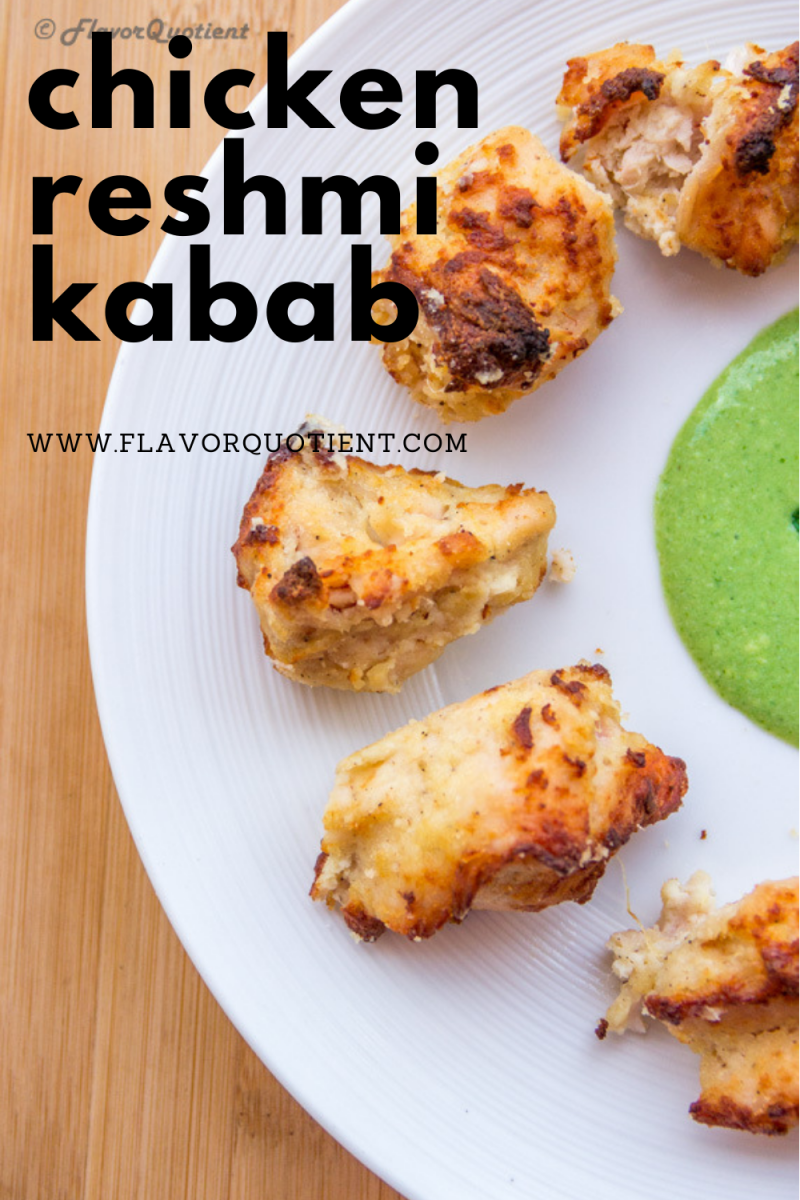 Chicken reshmi kabab has that deliciously succulent and melt-in-mouth texture which will surely knock you out with its amazing flavors! Juicy & succulent cubes of chicken grilled to perfect; chicken reshmi kabab is a luxurious affair from Indian cuisine! | chicken reshmi kabab recipe | how to make chicken reshmi kabab | easy chicken reshmi kabab recipe