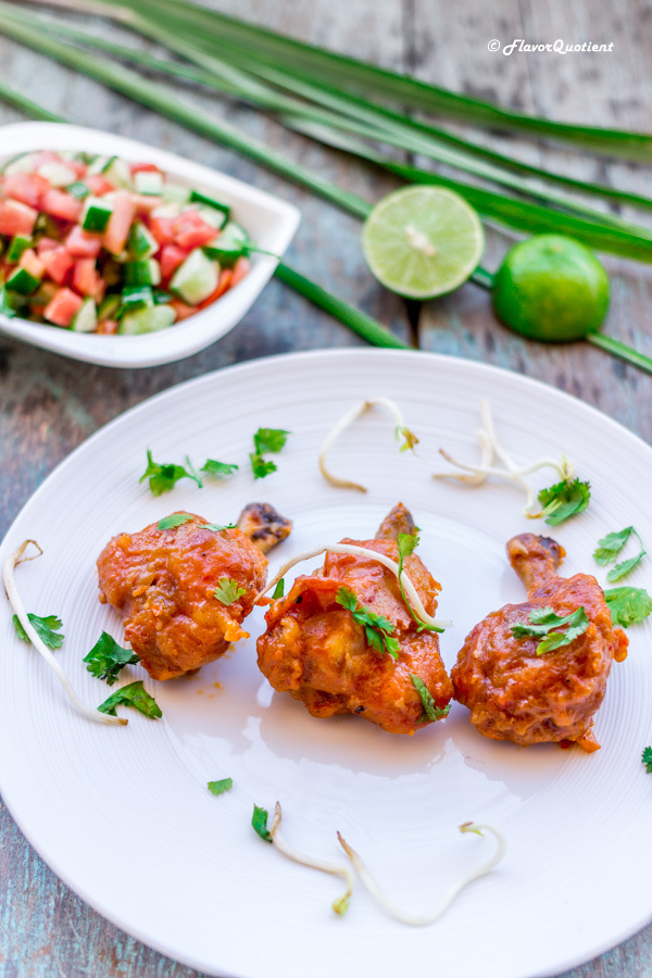 Schezwan chicken lollipop – Flavor Quotient: The spicy and crispy Schezwan chicken lollipop could be the best appetizer you have had till date.