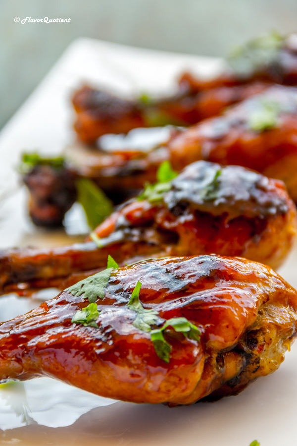 Barbecue Chicken Drumsticks in Homemade Barbecue Sauce – Flavor Quotient: The classic barbecue chicken turns out best with the homemade barbecue sauce and this hassle-free method will guarantee perfectly charred yet succulent barbecue chicken every time!