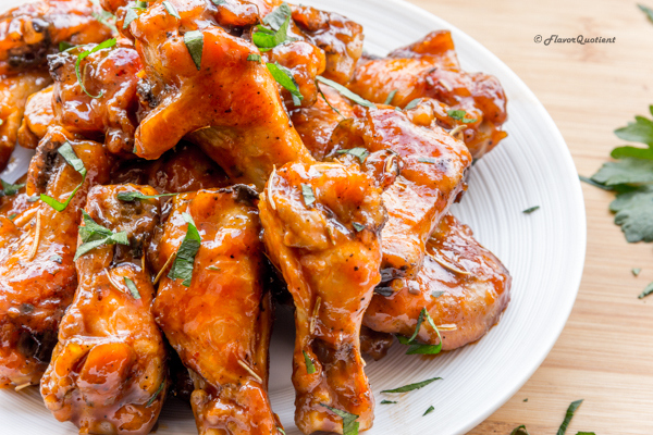 Baked Buffalo Chicken Wings – Flavor Quotient : These Buffalo chicken wings need no introduction! They are amazingly tasty and unbelievably easy at the same time and sure to be a show-stopper at your next party!