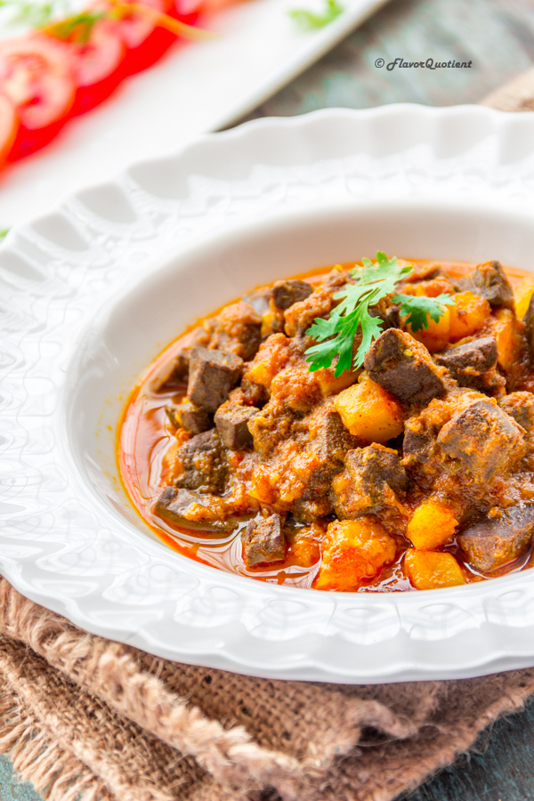 Lamb Liver Curry | Flavor Quotient | This spicy lamb liver curry is a truly traditional Indian curry with all the amazingness Indian cuisine has to offer! The flavors of this lamb liver curry reflect the genuine Indian touch from the root!