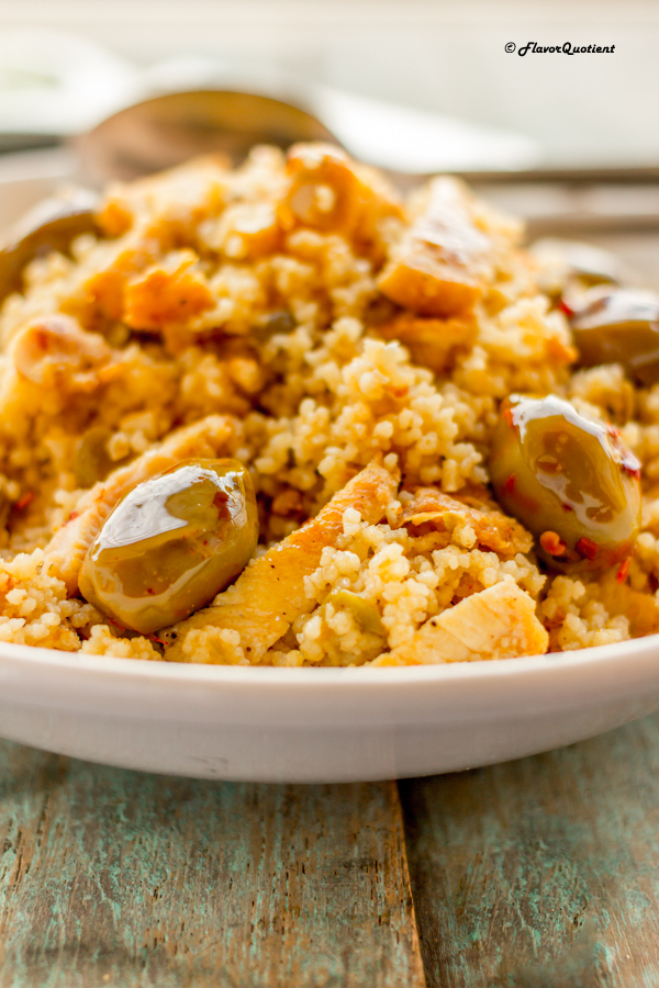 Chicken Couscous with Olives