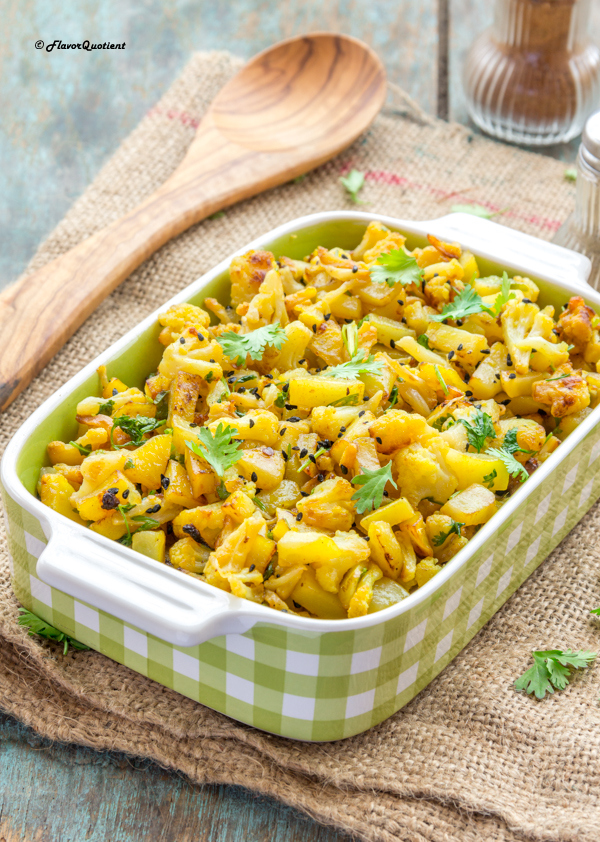Indian Spiced Cauliflower and Potato Stir Fry - Flavor Quotient